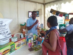 Mr. Nathan Bisaso of Bask Organics exhibiting at the Harvest Money Expo 2020