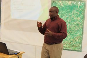 Mr. Godfrey Bwanika of 'Sulma Foods Ltd' facilitating a session during the Certification & Standards training