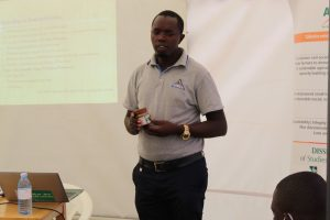 Mr. Ahimbisibwe Ronald of UNBS facilitating a session on 'UNBS Certification & Standards'