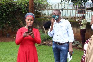 Participants exploring video capturing using their smart phones