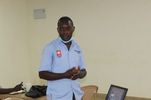 George Kizito explaining Advocacy approaches & strategies during the exposure visit to caritas Lugazi