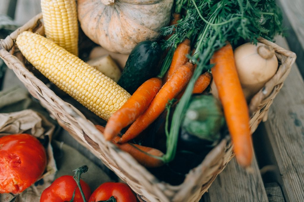 farm commodities in a basket