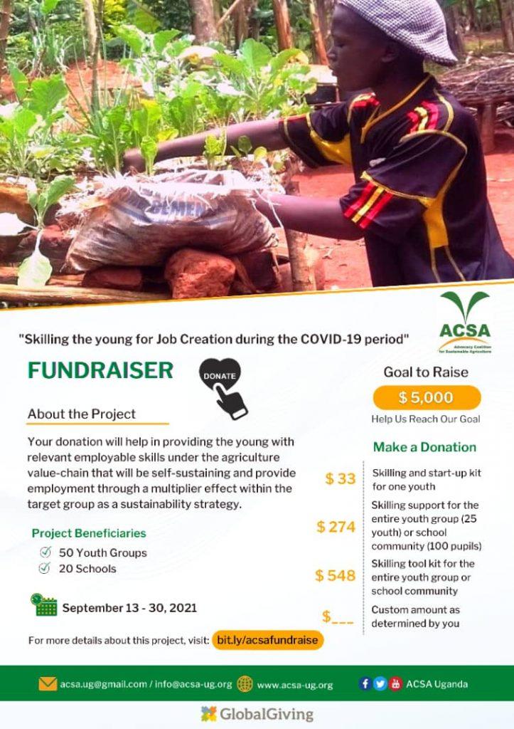 ACSA Fundraiser poster